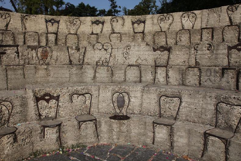 Chairs in concrete