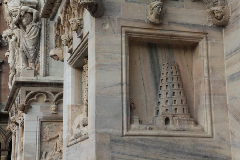 Milan cathedral: Tower of Babel